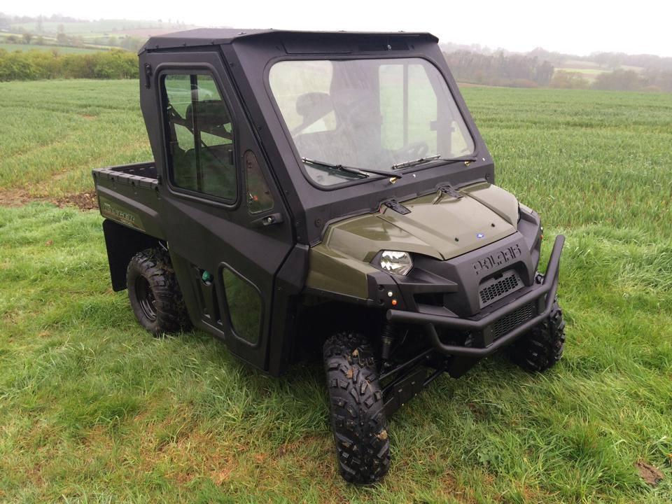 Polaris Ranger Diesel with Pro Steel Cab, in cab heater and custom David Webb Engineering mud flaps