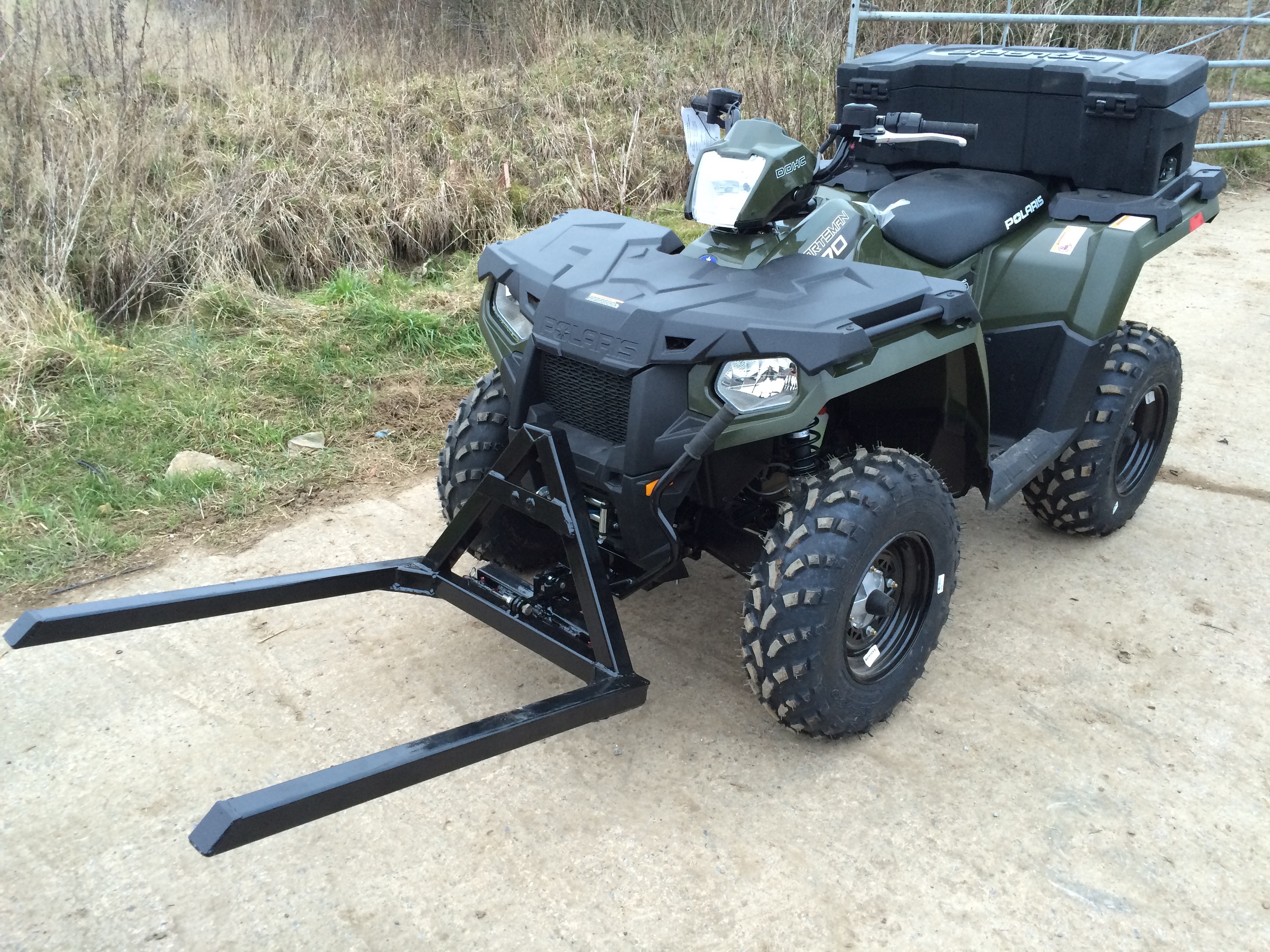 Fork lift quad bike polaris sportsman 570 david webb pallet forks custom built for polaris sportsman quad publicscrutiny