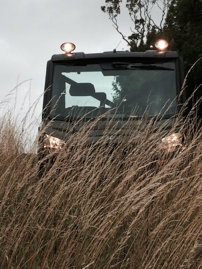 Polaris Ranger featuring additional roof mounted work lights