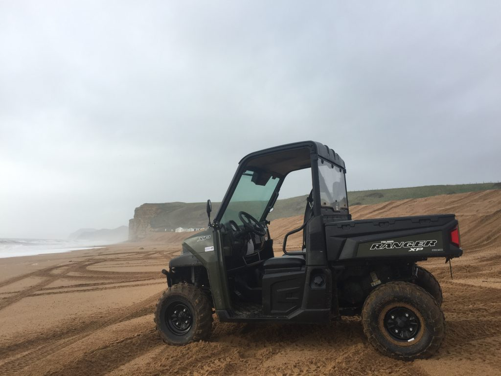 Polaris Ranger 900 XP on the South Coast of England