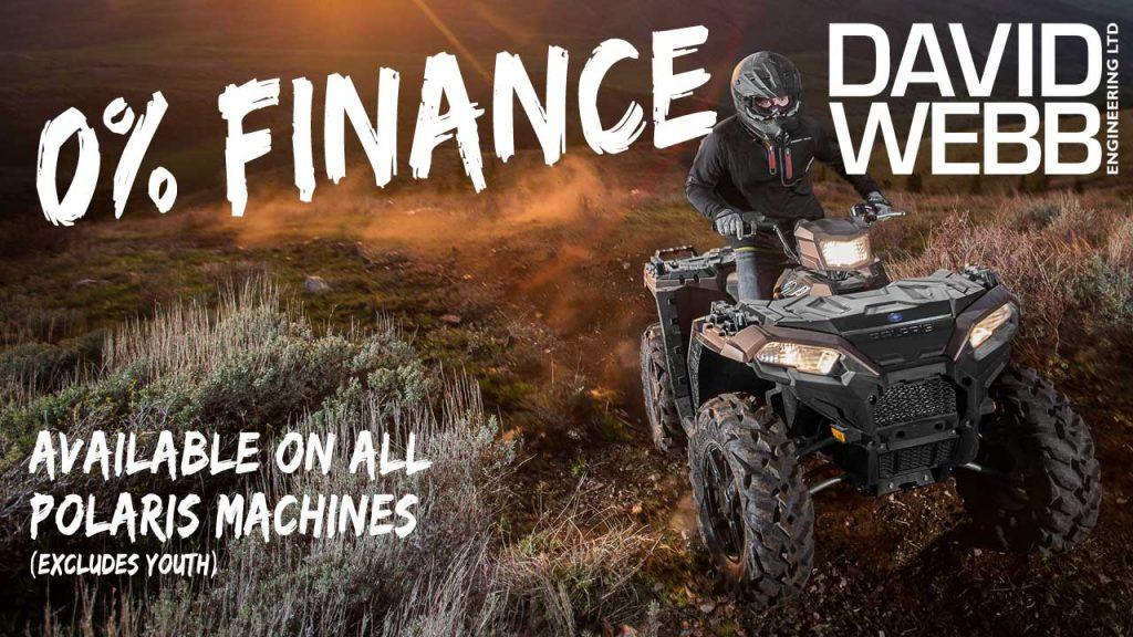 0% Finance on new Polaris quads and Rangers